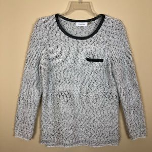 NWOT White&Black Weave Calvin Klein Sweater